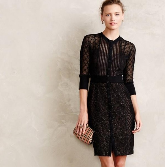 c77eea09d566 Anthropologie Dresses | Byron Lars Black Lace Dress | Poshmark